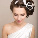 Brautfrisur fascinator